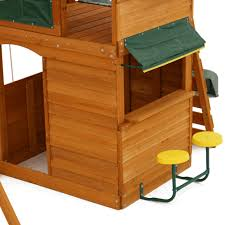 big backyard ridgeview clubhouse deluxe wood swing set
