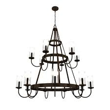 Country French Chandelier by Brecon Two Tier Chandelier Crenshaw Lighting