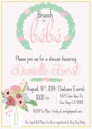 chagne brunch invitations theme baby shower brunch invitations