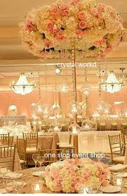 Wedding Centerpieces With Crystals by 2016 Newest Luxury Elegant Crystal Flower Stands Tall Wedding