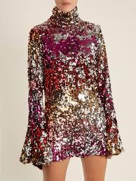 embellished dress high neck sequin embellished dress halpern matchesfashion us