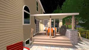 building a covered porch patio addition with covered deck outdoor kitchen spa and fire