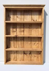 Herb Shelf Rustic Spice And Herb Rack Light Oak Finish 4 Shelves Wall
