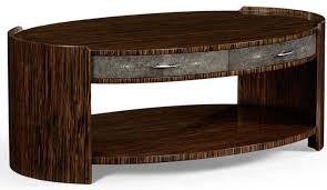 art deco styled oval coffee table 18