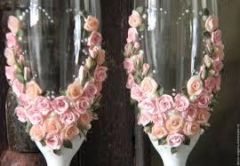 Shabby Chic Shopping by Buy Shabby Chic Wedding Toasting Glasses Rustic Toasting Flutes