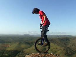 Table Top Mountain by Bold Unicyclist Rides Down Table Top Mountain Chronicle