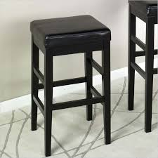 Black Leather Bar Stool Black Faux Leather Bar Stools Cabinet Hardware Room