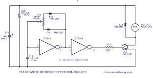 pwm motor speed circuit with diagram for dc motor