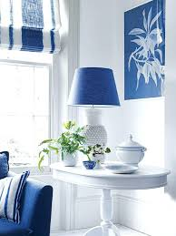 Navy Table L Navy Blue L Shades Table Ls Corner Vignette In This Living