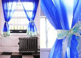 Curtains With Ribbon Ties Lightweight Ribbon Tieback M J