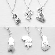 pet memorial necklace personalized 925 sterling silver pet memorial necklace custom