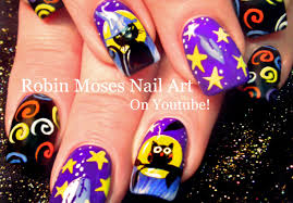 halloween cats and owl nails diy nail art design tutorial youtube