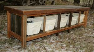 Indoor Storage Ideas Emejing Rustic Storage Bench Ideas Fenamp Co Fenamp Co Images On