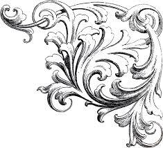 scroll ornament clip bkmn clip library