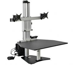 Electric Sit Stand Desk by Kangaroo Electric Elite Workstation Seated