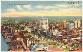Map Of Savannah Ga Aerial View Of Savannah Ga Digital Commonwealth