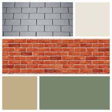 light gray exterior color schemes paint colors with blue red brick