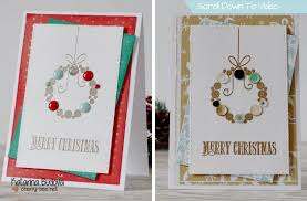 modern christmas cards 12 cards for christmas card 2 modern christmas wreath using up