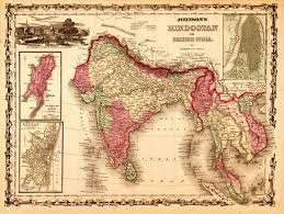 map of undivided india during british rule 1862 np india