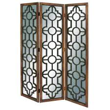 Metal Room Dividers by Metal 3 Panel Room Divider Upscale Consignment