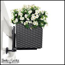 white railing planter brackets 2pack hooks u0026 lattice