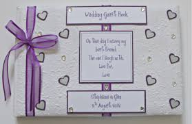 purple guest book purple carol miller designs wedding stationery showcase