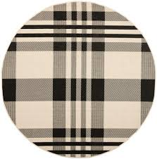 Safavieh Outdoor Rugs Black U0026 Bone Plaid Outdoor Rug Safavieh Com
