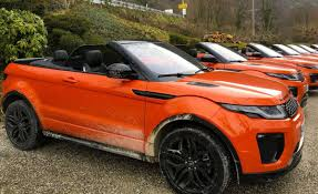 orange range rover in photos range rover evoque convertible inside and out the
