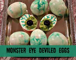 monster eye deviled eggs recipe and directions florida bloggess
