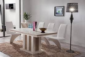 creative dining table top materials in fresh home interior design