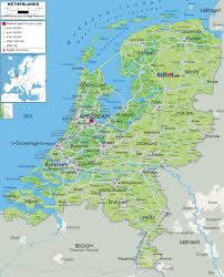 Physical Features Of Europe Map by Physical Map Of Netherlands Ezilon Maps