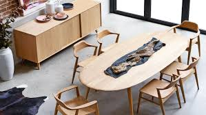 furniture laminate wood oval dining table with wooden kitchen laminate wood oval dining table with wooden kitchen cabinet also concrete floor for impressive dining room design ideas
