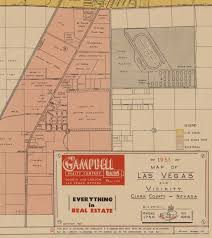 Tumbleweed Park Map Vintage Las Vegas U2014 Detail Of A Las Vegas Map Dated November