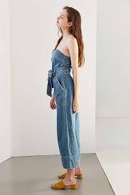 strapless denim jumpsuit bdg strapless denim jumpsuit styles