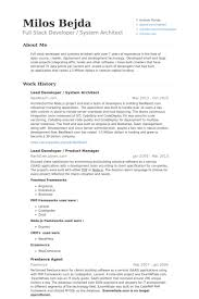 Architectural Resume Examples by Lead Developer Resume Samples Visualcv Resume Samples Database