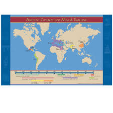 Rome On World Map Amazon Com Ancient Civilizations Map And Timeline Poster Prints