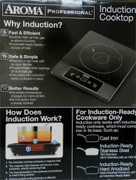 Induction Cooktop Aluminum Aroma Gourmet Series Induction Cooktop
