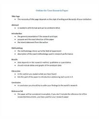 apa research paper outline template source