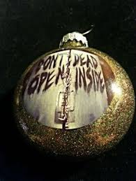 walking dead style painted ornament 28 00