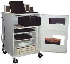 multimedia cart with locking cabinet cmsc37 multimedia 21 cabinet w 4 roll out shelves