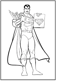 drawing superman coat coloring picture kids superman
