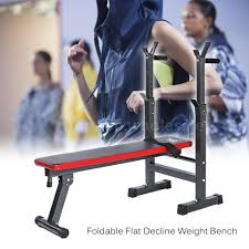 Adjustable Dumbbell Weight Bench Tomshoo Adjustable Folding Weight Lifting Flat Incline Bench