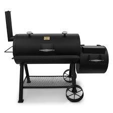 Backyard Grill Charcoal Walmart by Char Broil Oklahoma Joe U0027s Longhorn Offset Smoker Grill Grey Smoke