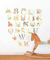alphabet zoo wall art sticker kit