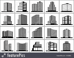 Floor Plan Icons by Design Elements For Floor Plan Premises Thin Lines Icons Of