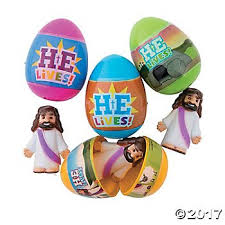 easter eggs filled with toys he is risen jesus filled plastic easter eggs 12