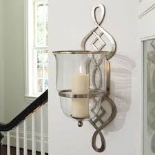 candle holders metal hanging decorative wood wall