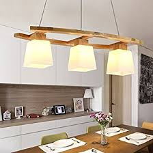 Plafonniers De Bureau Amazon Plafonnier Suspension Led Table En Bois Et En Verre Suspension