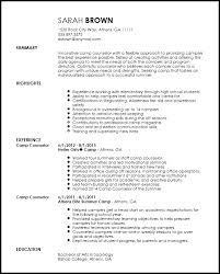 Dancer Resume Sample by Sample Camp Counselor Resume Gallery Creawizard Com