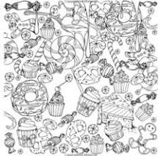 abstract doodle art coloring pages coloring panda arts